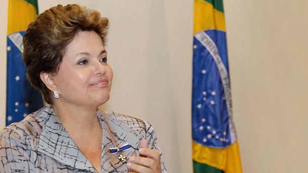 Dilma durante o Café com a Presidenta.