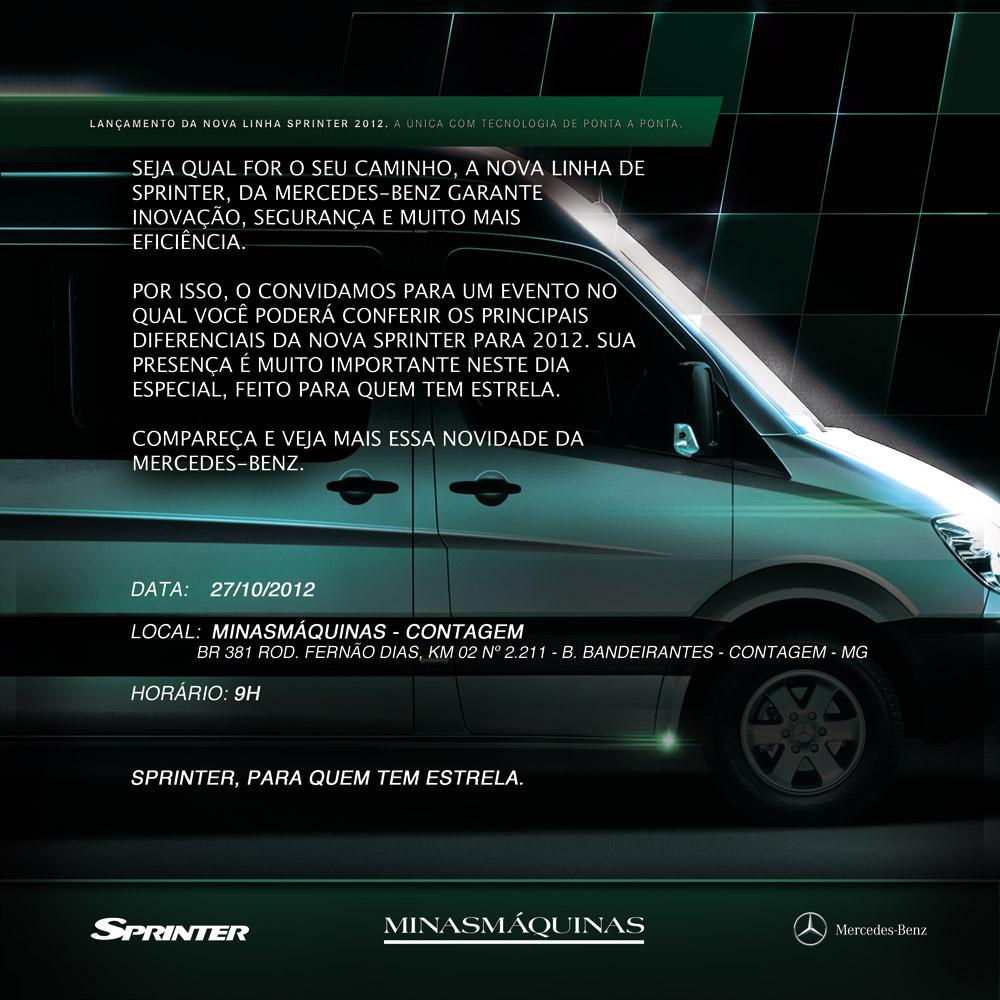 Minasmáquinas realiza lançamento da Sprinter