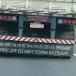 Frases de para-choques de caminhão